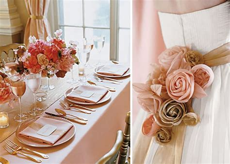 Pink And Gold Table Setting by Gold Table Settings Wedding Wedding Weddings Pink And