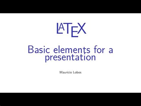 latex tutorial for presentation latex tutorial 1 of 11 starting a report and title page