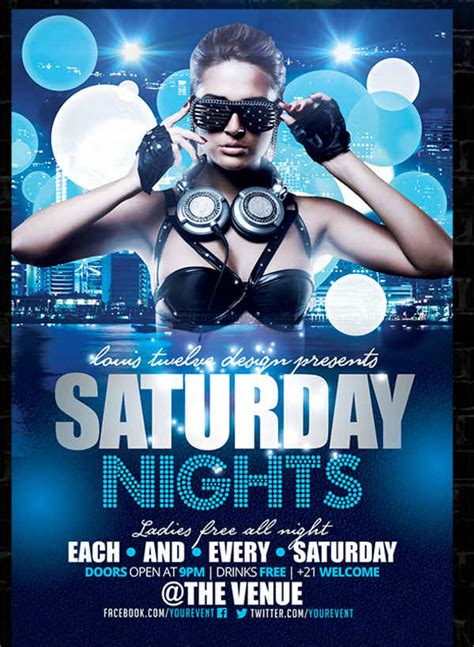 template flyer disco 10 nightclub party flyers design templates free