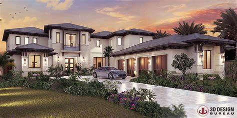 design a mansion 3d design bureau 3d renderings help sell 9m florida mansion