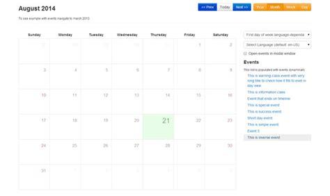 calendario bootstrap calendario bootstrap con jquery complementos para extender y mejorar bootstrap