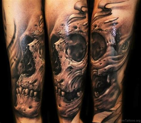 skull forearm tattoos 83 fancy skull tattoos for arm