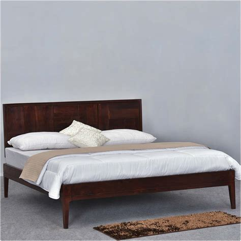 modern wood headboard modern pioneer solid wood platform bed frame w headboard