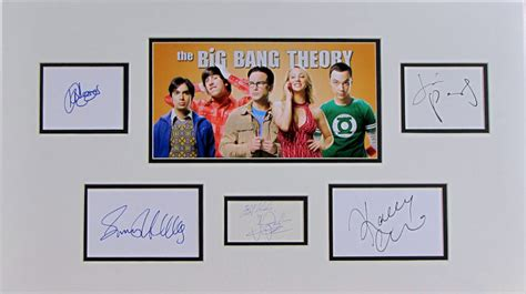 sport star autographs autographs from the worlds most the big bang theory autograph signed cast display