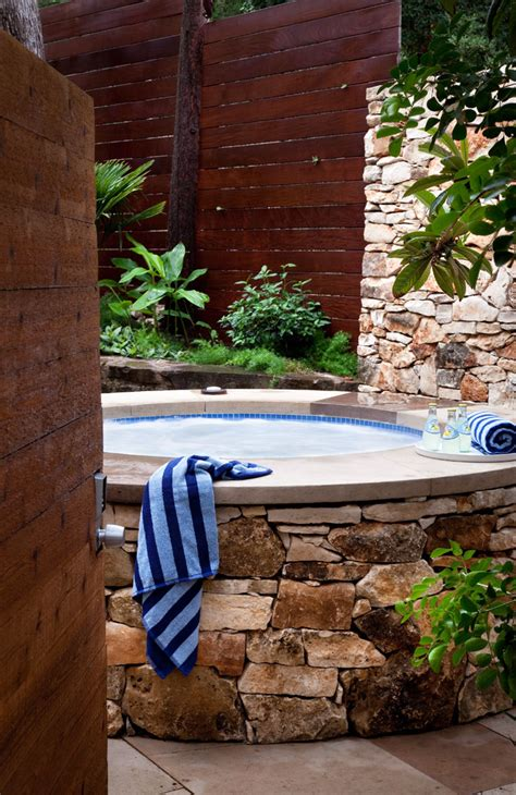 65 Awesome Garden Hot Tub Designs Digsdigs Backyard Tub Design Ideas