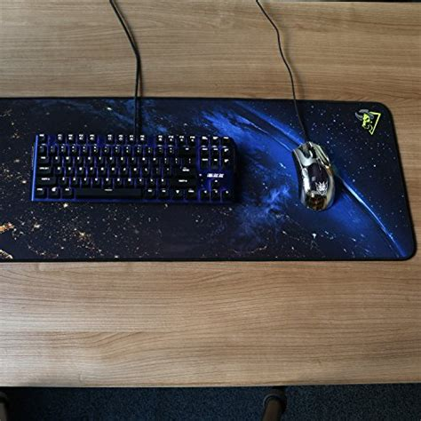 rantopad h1x nebula silky cloth extended gaming mouse pad keyboard pad with stitched edges 35