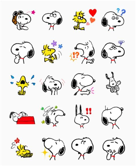 Emoticon Sticker snoopy stickers for messenger sticker emoticon free