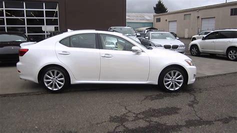 white lexus 2009 2009 lexus is250 white stock 029095 walk around