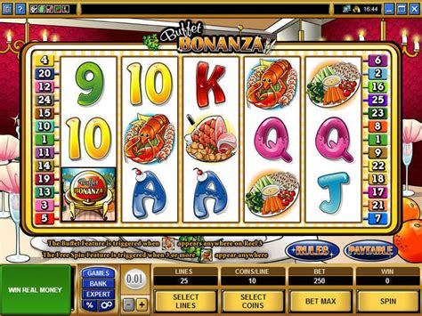buffet bonanza slots 5 reel 25 line by microgaming