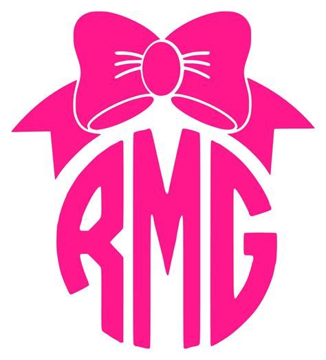 bow decal pretty bow circle monogram car decal 183 stickie situations