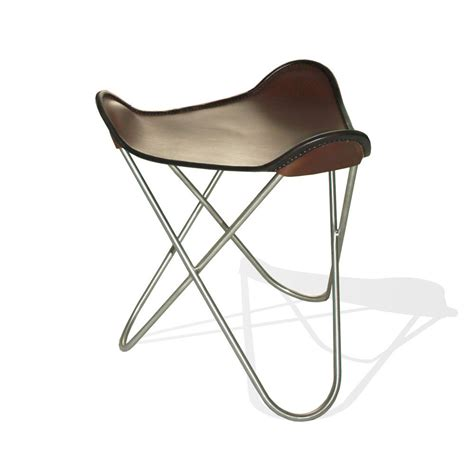 Butterfly Chair With Ottoman Hardoy Butterfly Chair Original Leather Coffee Brown With Ottoman Weinbaums