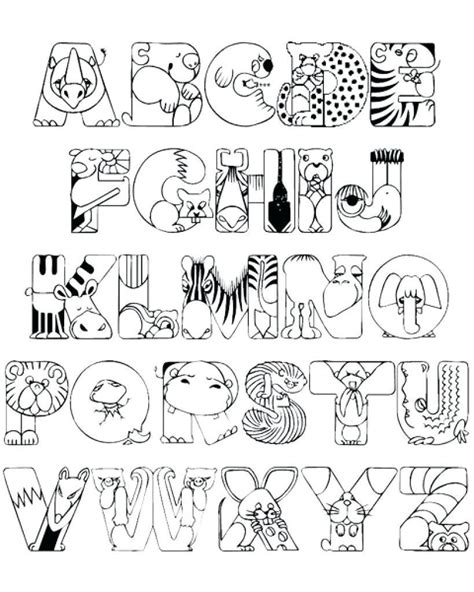 how many letters are in the alphabet new animal alphabet coloring pages collection printable 1279