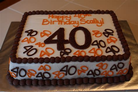 Guys Birthday Cake Decorating Ideas by The Buttercream Bakery 40th Birthday Cake