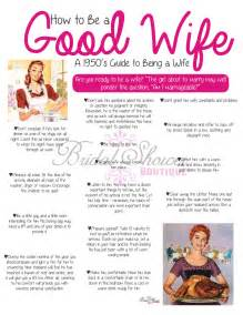 Good Housewife Guide by 1950 S How To Be A Good Wife Bridal Shower Game Pink Fun