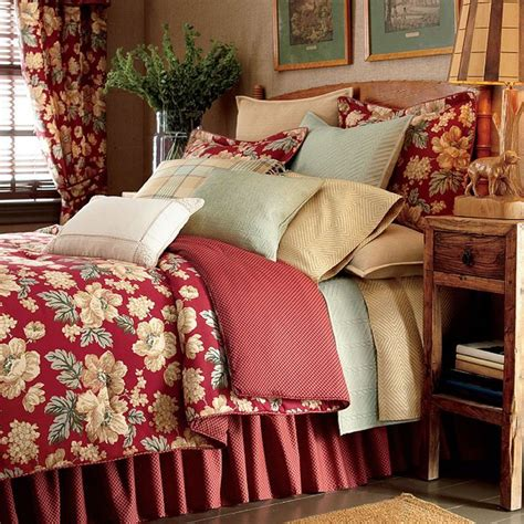chaps bedding chaps elizabeth red floral standard pillow sham new full