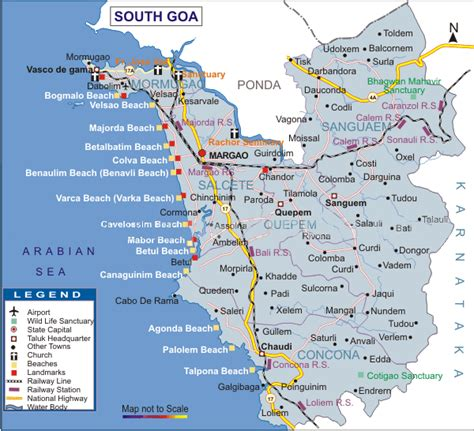 resort goa map south goa india pictures citiestips