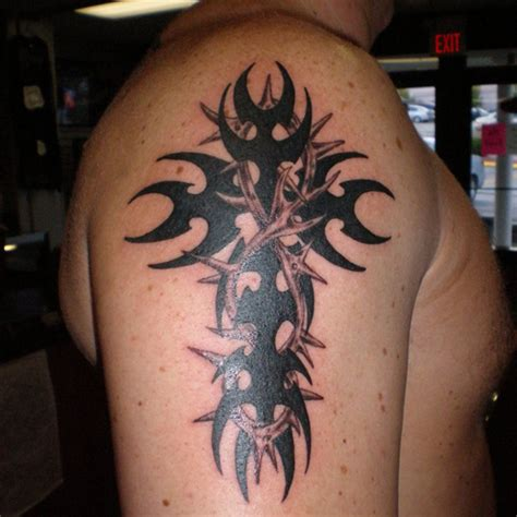 tribal cross tattoos for guys 30 tremendous tribal cross tattoos creativefan
