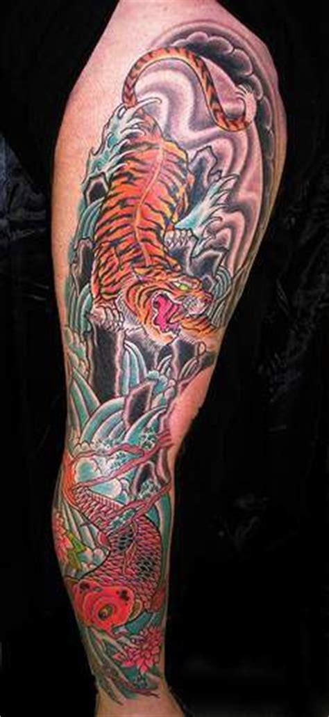 koi tiger tattoo koi fish and asian tiger tattoo in colour tattooimages biz