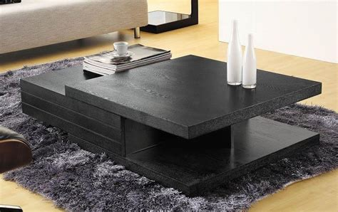 Contemporary Black Multi Layered Coffee Table Tampa Florida VCJM06