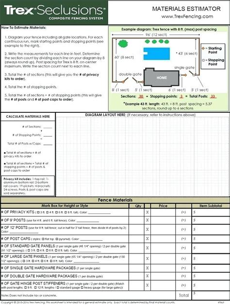 Fence Estimate Fence Estimate Template With Fence Estimator Chain Link Fence Estimate Calculator Fence Estimate Template