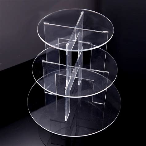 Tier Acrylic 3 7 tier clear acrylic cupcake muffin stand