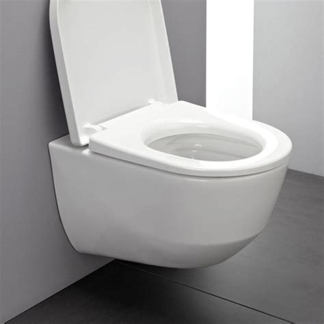 Laufen Pro wall mounted, compact washdown toilet, rimless
