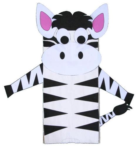 Zebra Paper Plate Craft - baa baa black sheep