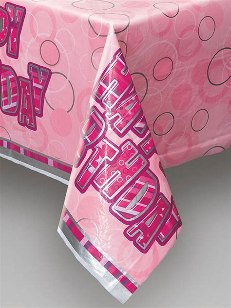 printed plastic table covers pink plastic printed table cover novelties