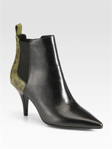 fish boots 3 1 phillip lim bunty leather fish skin ankle boots in
