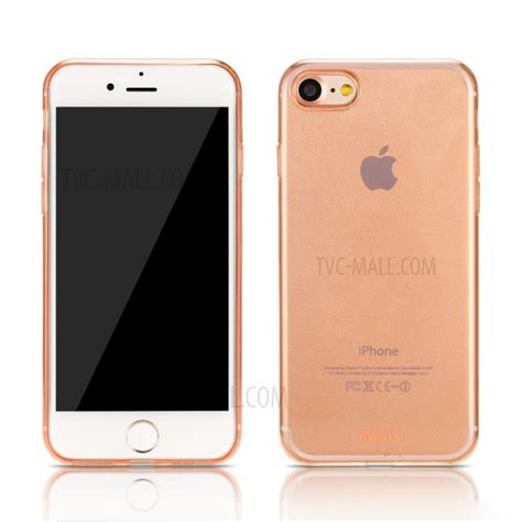 Remax Series Tpu For Iphone 7 Brown 1 remax series tpu for iphone 7 4 7 inch transparent gold tvc mall