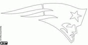 Patriots Logo Stencil sketch template