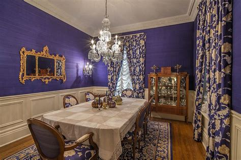 purple and gold room 15 majestic victorian dining rooms that radiate color and