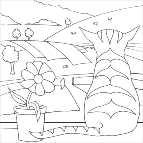 two cats coloring page cat coloring pages coloring town