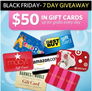 Amazon Register Gift Card - register to enter to win a 50 gift card to amazon target barnes noble and more