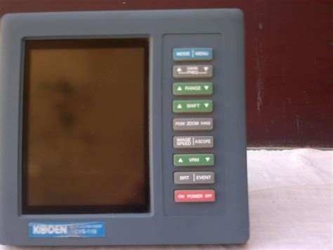 sonda koden fish finder cvs 118 display second 53705