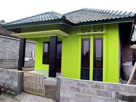 perpaduan warna hijau warna cat rumah  bagian luar
