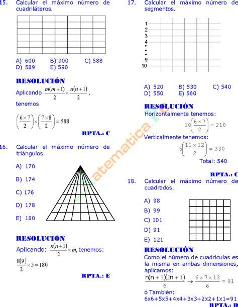conteo de figuras matematicas ejercicios resueltos ejercicios resueltos de conteo de figuras razonamiento