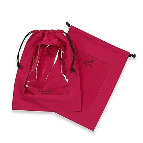 Set Of 2 Shoe Bag buy clear peek a boo window shoe bag in fuschia set of 2