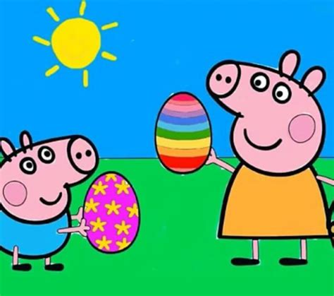 peppa pig painting free peppa pig colouring in coloring europe