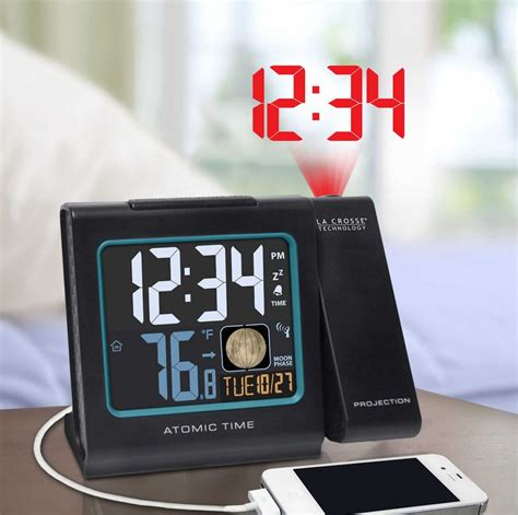 atomic projection alarm ceiling digital wall display clock usb weather backlight ebay