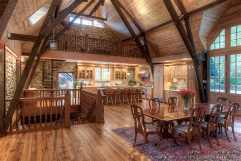 Luxurious Dining Rooms by Log Home Kitchens Pictures Amp Design Ideas