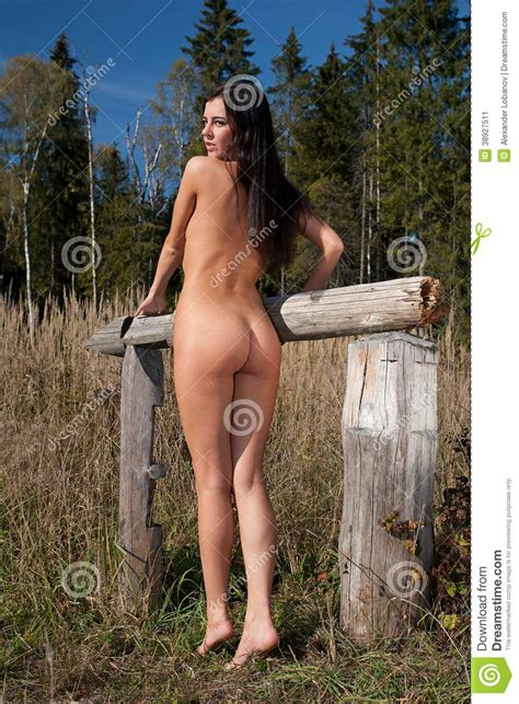 Nude Girl In Nature Stock Photo Image