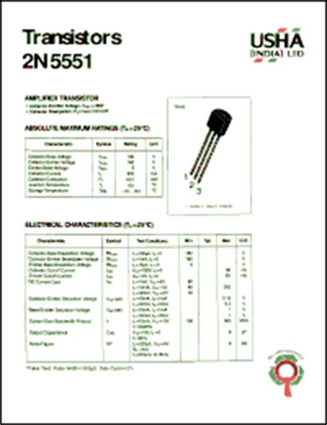 transistor lifier datasheet 2n5551 datasheet lifier transistor collector emitter voltage vceo 160v collector base