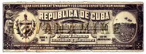 vintage cuban cigar warramty label art print