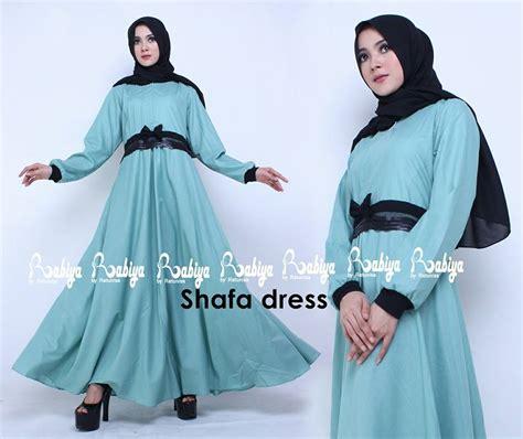 Dress Casual Muslimah Ramsha Dress Katun Ima 1 shafa dress biru baju muslim gamis modern