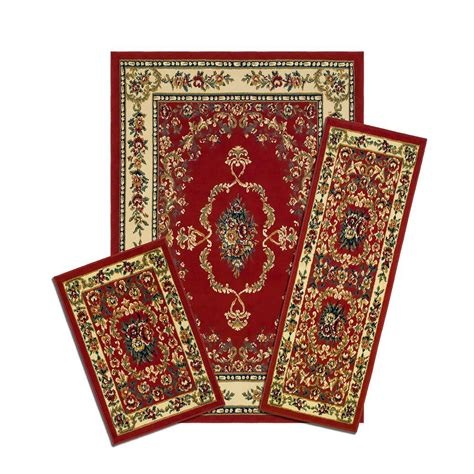 matching rug savonnerie 5 ft x 7 ft 3 rug set x470 372 r the home depot