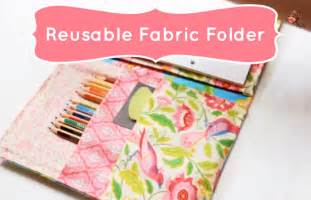 cute supplies reusable no sew fabric folder