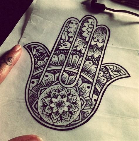 henna hamsa tattoo hamsa on rib cage tattoos and piercings