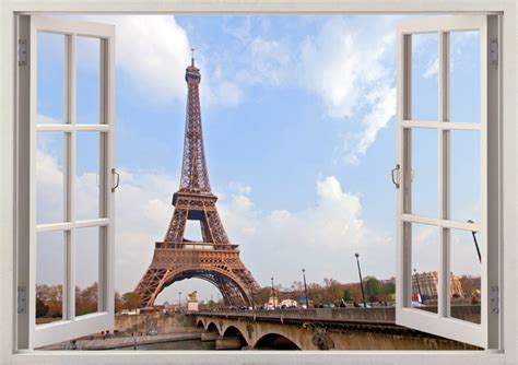 home furnishings store st louis ooh lala eiffel tower wall sticker 3d window paris decal for home