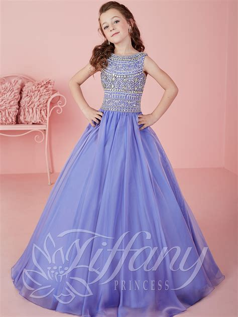gaaoun drees tiffany princess 13471 bateau neckline ball gown pageant